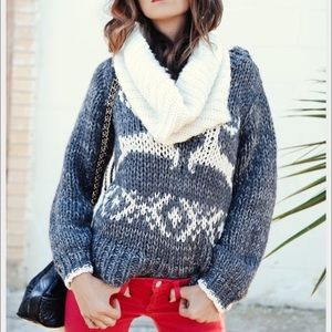 Free People Prancer and Dancer Knit Sweater